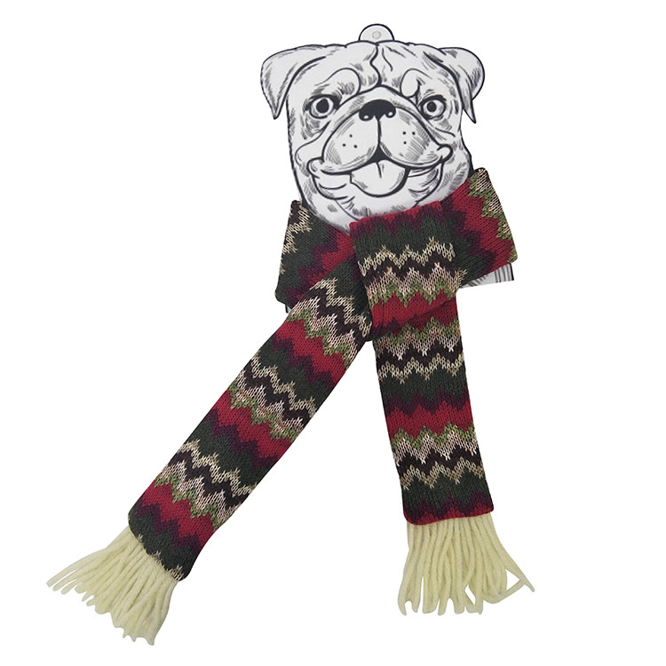 Christmas dog knit scarf 1