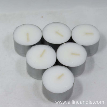 4 hours wax plastic bag package tealight candles
