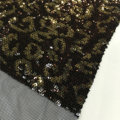 Newest Geometry Design Multicolor Sequin Embroidery Fabric