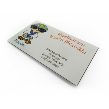 Custom Restaurant Business Card Magnets Round Corners