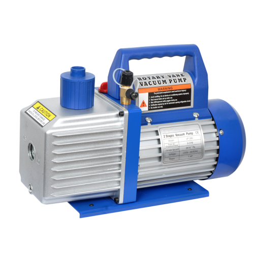High efficiency single and double stage vacuum pump