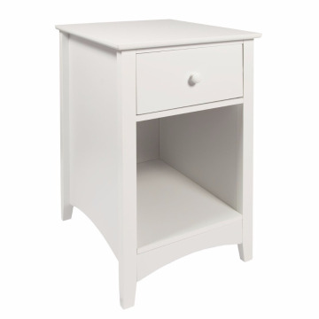 Bottom price for Bedroom Nightstands,Bedside Cabinets,Modern Nightstands Manufacturers and Suppliers in China Wooden Bedside Chest with Drawers Bedside Chest with Drawer and Shelf Cabinet Table Storage Unit, 38 x 44 x 58 cm, White supply to Belgium Wholes