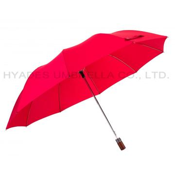 Unisex Auto Open 2 Folding Umbrella Plain Colored