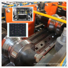 Storage rack upright shelf frame roll forming machine