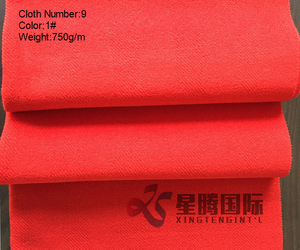 Sinngle Face Wool fabric Red