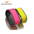 customized F08 for fairs silicone 1356 rfid wristband