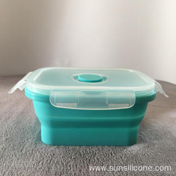 Silicone container bento sealed storage box