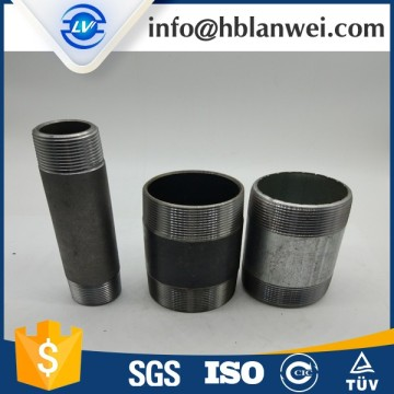 OEM manufacturer custom for Steel Pipe Fitting BSP NPT Galvanized threaded steel pipe nipple export to Indonesia Factory