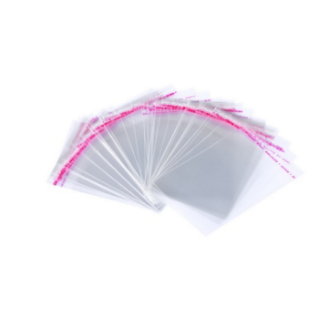 Transparent plastic resealable opp self adhesive cellophane bags with hanging header customized logo