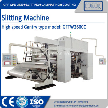 Permukaan Winding Slitter Machine SUNNY MACHINERY
