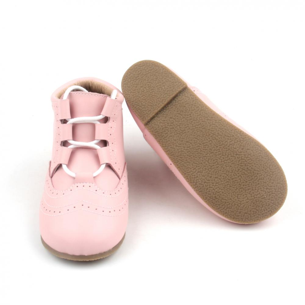 2018 Lacework Pink Cute Baby Boots Warm Baby Girl Leather Boots