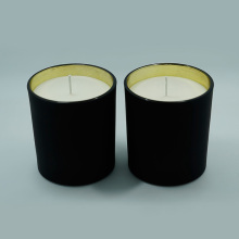 Natural Soy Customized Matt Black Glass Jar Candles