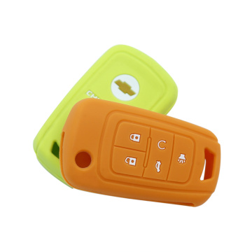 5 Button Silicone Car Key Cover bakeng sa Chevrolet