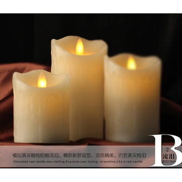 Remote control battery operated flickering candle