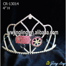 Wholesale Custom Car Red Rhinestone Pageant Crowns