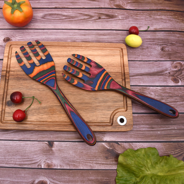 2 PCS Pakkawood Utensil Sets With Fork