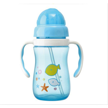 Plastic Baby Water Drinking Bottle Training Cup L