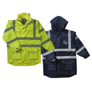 Long style construction safety vest nears