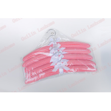 Lattice Satin Padded Hanger 5Pcs