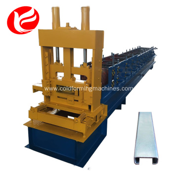 Rolled cold steel c purlin roll forming machine