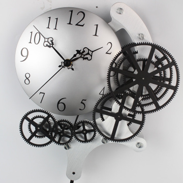 Pendulum Gear Wall Clock With 5 Rings