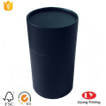 Black round cardboard tube gift box packaging