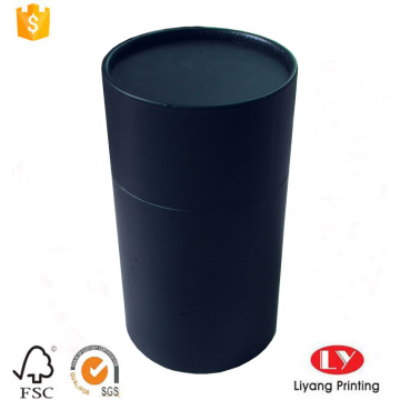 Custom made black printed paper tube box
