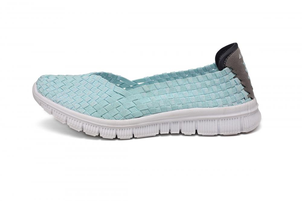 Powder Green Casual Woven Shoes