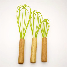 China for Silicone Egg Whisk Silicone egg beater with wooden handle supply to Spain Supplier