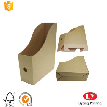 Brown Self-Folded Corrugated File Holder