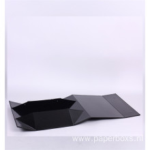 Black collapsible cardboard lie magnet packaging box