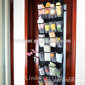 Heavy Duty door hanging shoe organizer Large Mesh Pockets Over the Door Organizers with 4 Steel Door Hooks