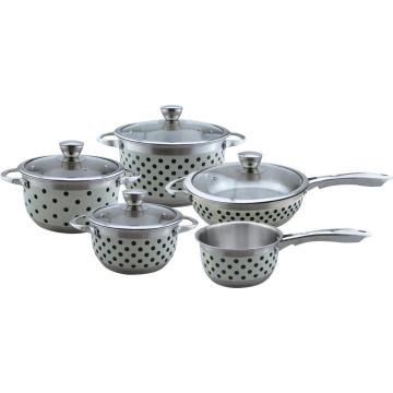 Dot painting 9pcs cookware set