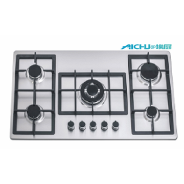 5 Burners 201 Level S.S Brushed Hob