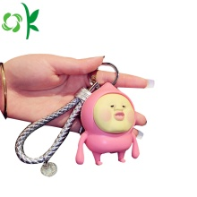Silicone Keychain Fart Peach 3D Keyring Silicone Accessories