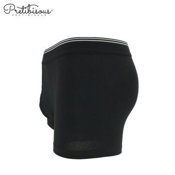 Wholesale black cotton lingerie young men underwear