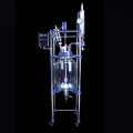 laboratory glass pressure jacketed reactor