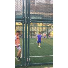 Football stadium temporary construction chain link fence