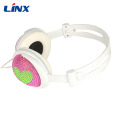 Linx promotion cute heart Diamond headphone for mp3