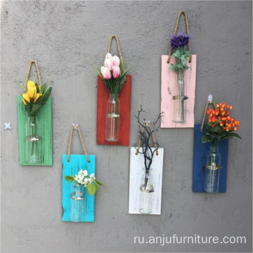Garden Wall hanging decorative indoor wooden planters air plants holder