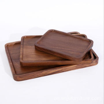 Wood Serving Tray Black Walnut Made Oval rectangle Serving Tray