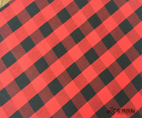 Red And Black Check 100% Cotton Fabric