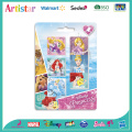 DISNEY PRINCESS blister card 4 pack erasers