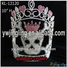 10 Inch Special skull shape pageant crown