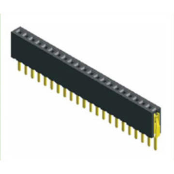 China for Pcb Connector 1.27mm Pitch Female Header Single Row Straight Type supply to Mauritius Exporter