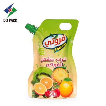 Stand up pouch with corner spout for juice