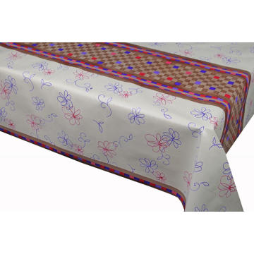 Pvc Printed fitted table covers Lace