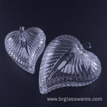 Factory supplied for Ring Jewelry Box Hand Pressed Leaf Shaped Glass Jewelry Box export to Netherlands Manufacturer