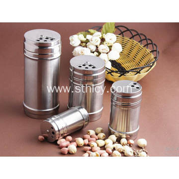 Stainless Steel Rotating Cover Multi-purpose Seasoning Box