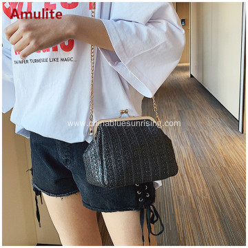Women Beach Straw Shoulder Bags Rattan Bag